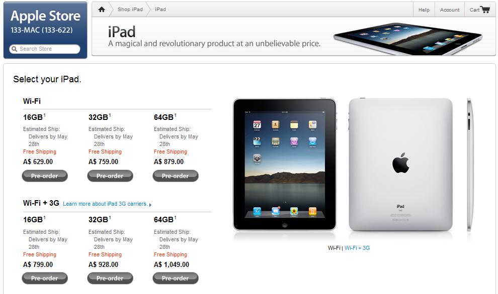 iPad Pre-Order