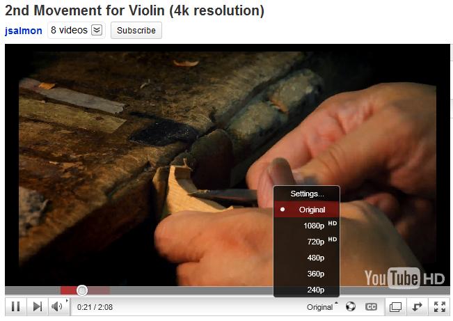 YouTube supports 4K-resolution videos - TechGeek