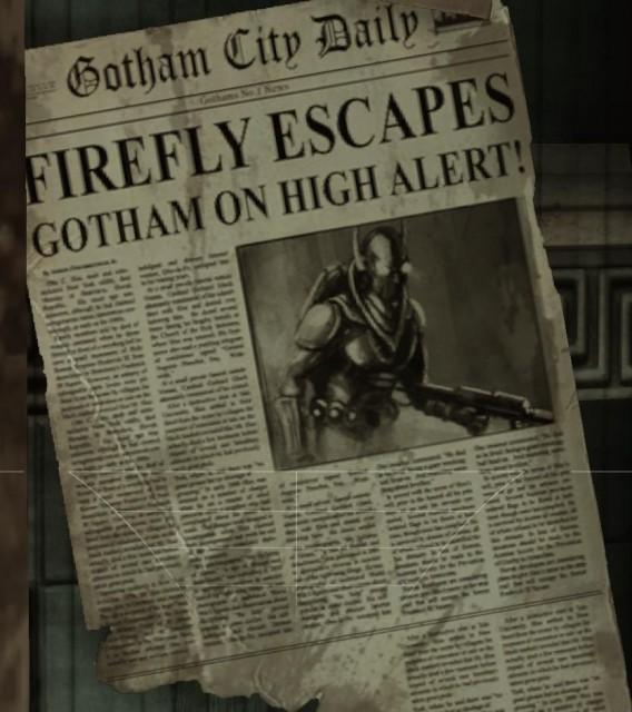Firefly gear featured in Arkham Asylum
